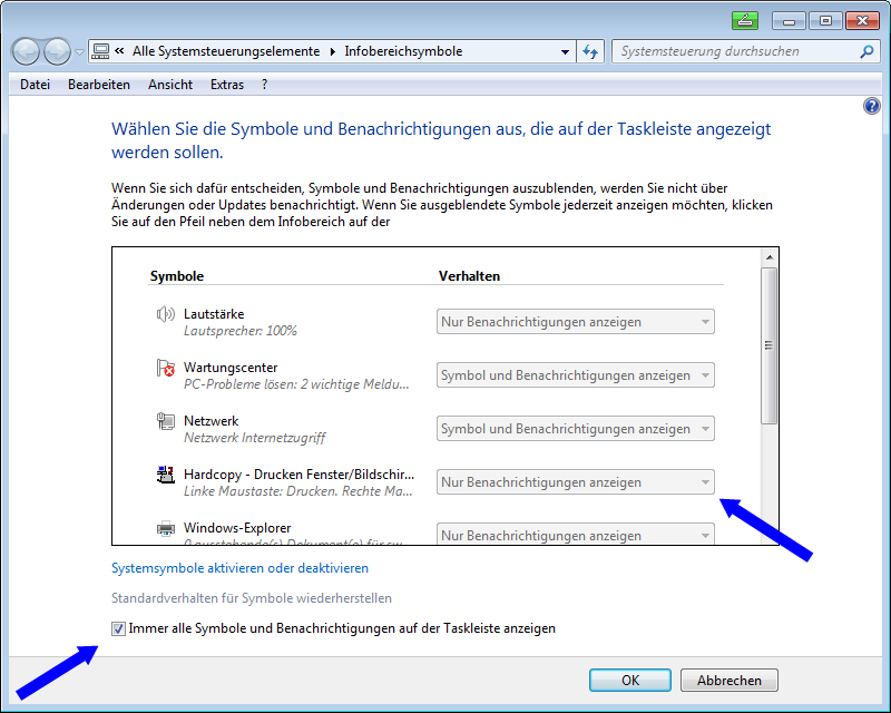 desktop symbole windows 10 einblenden